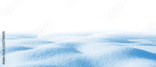 Valokuvatapetti Snowdrift isolated on white background for design