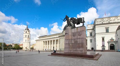 Foto op Canvas Europa Beffroi et cathédrale de Vilnius / Lituanie / Pays balyes