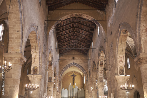 Palermo, Italy - September 08, 2018 : View of San Francesco di Assisi church
