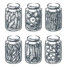 Pickled Vegetables, Mushrooms ...