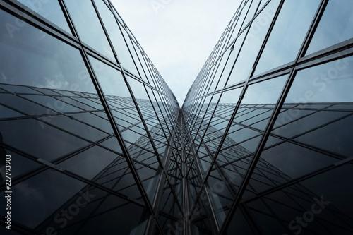 Architecture perspective bâtiment immeuble bureau affaire building vitre verrièr Fototapeta