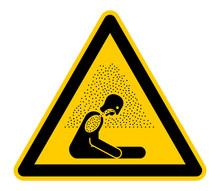 Wso367 WarnSchildOrange - English Warning Sign: Caution Risk Of Suffocation (asphyxiating Atmosphere) - German Warnschild: Warnung Vor Ersticken Durch Sauerstoffmangel (Kohlenmonoxidvergiftung) G6695