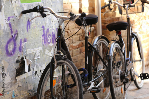 Deurstickers Fiets bicicletas de calle