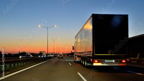 Photo Road transport.