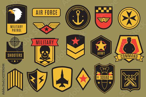 Obraz na plátně Military badges