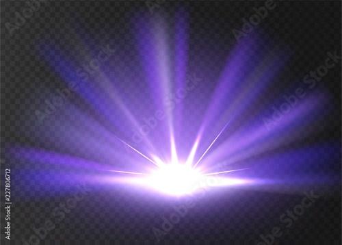 Wallpaper Mural Abstract violet bright light