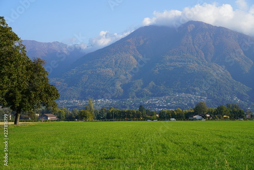 Autumn landscape in Switzerland