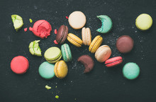 Flat-lay Of Sweet Colorful Fre...