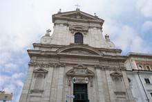 The Church Of Saint Mary Of Victory  (Santa Maria Della Vittoria) In Rome, Italy