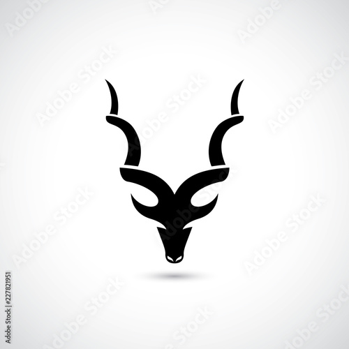 Abstract antelope symbol Canvas Print
