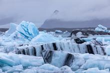 Blue Ice At Jokulsarlon Glacie...