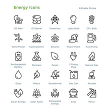 Energy Icons - Outline Styled ...