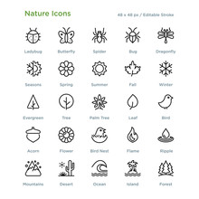 Nature Icons - Outline Styled ...