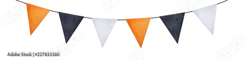 Carta da parati  Bright party garland with different painted flags