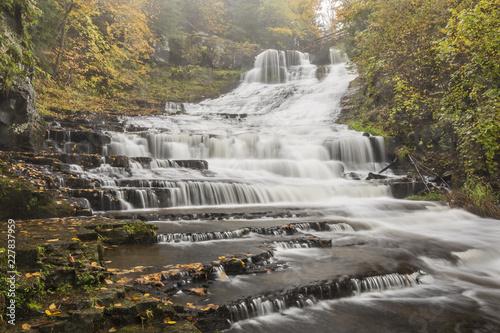 Fototapeta Rainy Autumn Day at Rensselaerville Falls