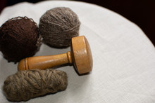Antique Darning Egg With Wool