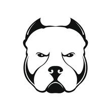 American Bully Dog Logo On Whi...