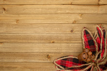 Holiday Wood Background With P...