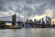 Panorama new york city at evening