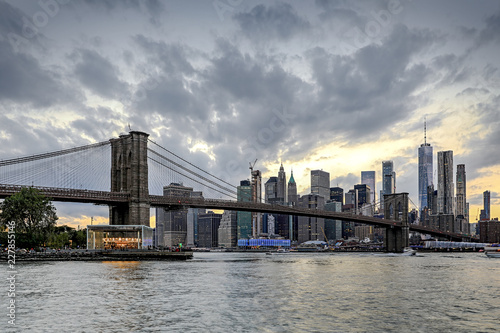 Keuken foto achterwand New York City Panorama new york city at evening
