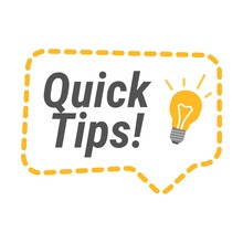 Quick Tips Icon. Flat Vector I...