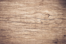 Top View Brown Wood With Crack, Old Grunge Dark Textured Wooden Background,The Surface Of The Old Brown Wood Texture