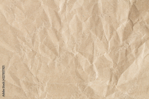 Fotografia, Obraz  Recycle brown paper crumpled texture, Old paper surface for background