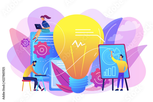 Photo  Competitive intelligence concept vector illustration.