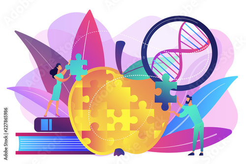 Photo  Genetically modified organism concept vector illustration.