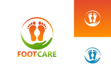 Foot Care Logo Template Design Vector, Emblem, Design Concept, Creative Symbol, Icon