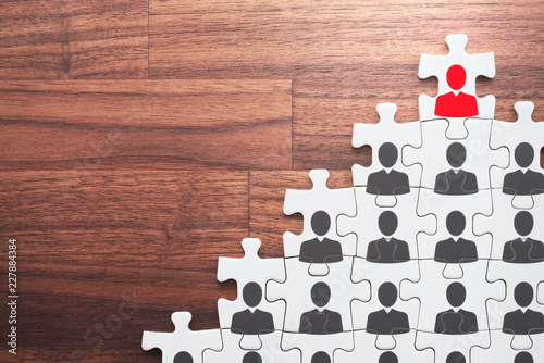 Successful leader and corporate hierarchy Fototapet