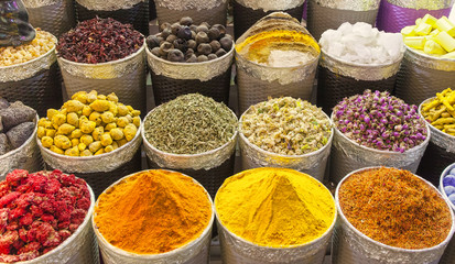 traditional spice market in...