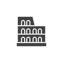 Coliseum Vector Icon. Filled F...