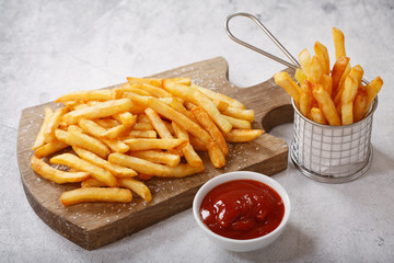 Fototapeta French fries with ketchup