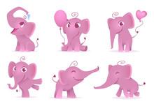Adorable Elephants. Cute And F...