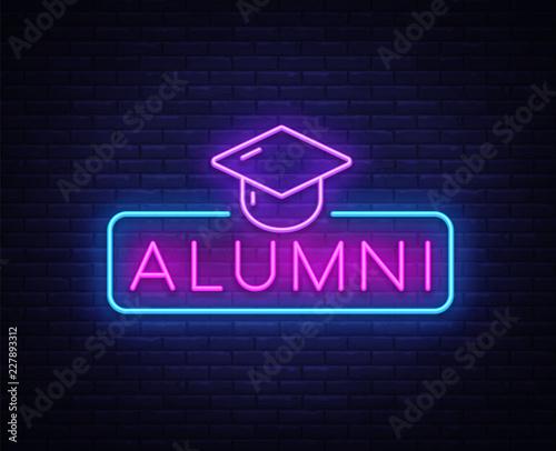 Alumni Neon Sign Vector Canvas Print
