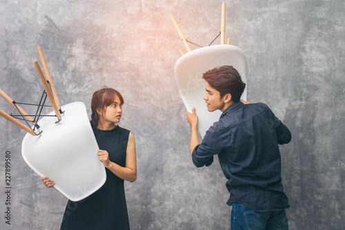 Fényképezés  Husband and wife couples, Asians are Brawl