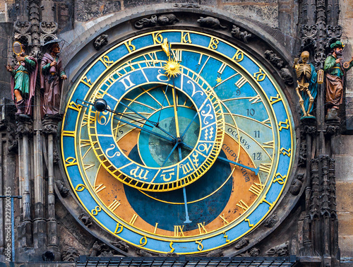 The old astronomical clock is one of the main sights of  Prague. The historical center of the city.