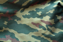 Camouflage Cloth With Blur Effect.
