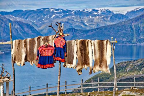 Montage in der Fensternische Skandinavien Lappland
