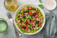 Tuna Salad In White Bowl