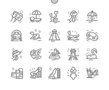 Water Park Well-crafted Pixel Perfect Vector Thin Line Icons 30 2x Grid For Web Graphics And Apps. Simple Minimal Pictogram