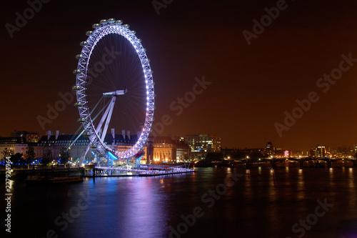 Stampa su Tela River Thames at Night