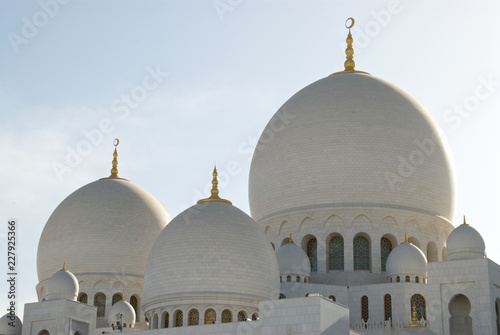 In de dag Abu Dhabi Grand Mosque