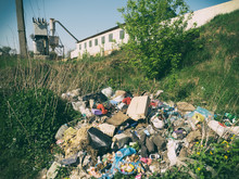 Garbage Dump In The Territory Of The Old Plant