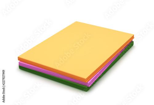 стек цветной бумаги. 3d иллюстрации
