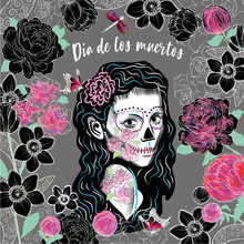 Illustration Of A Mexican Witch