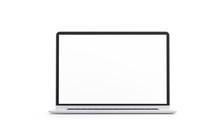 Blank White Laptop Screen Mock...