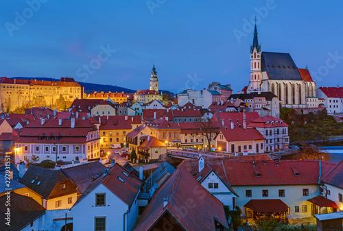 Cesky Krumlov cityscape in Czech Republic Slika na platnu