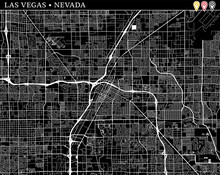 Simple Map Of Las Vegas, Nevada